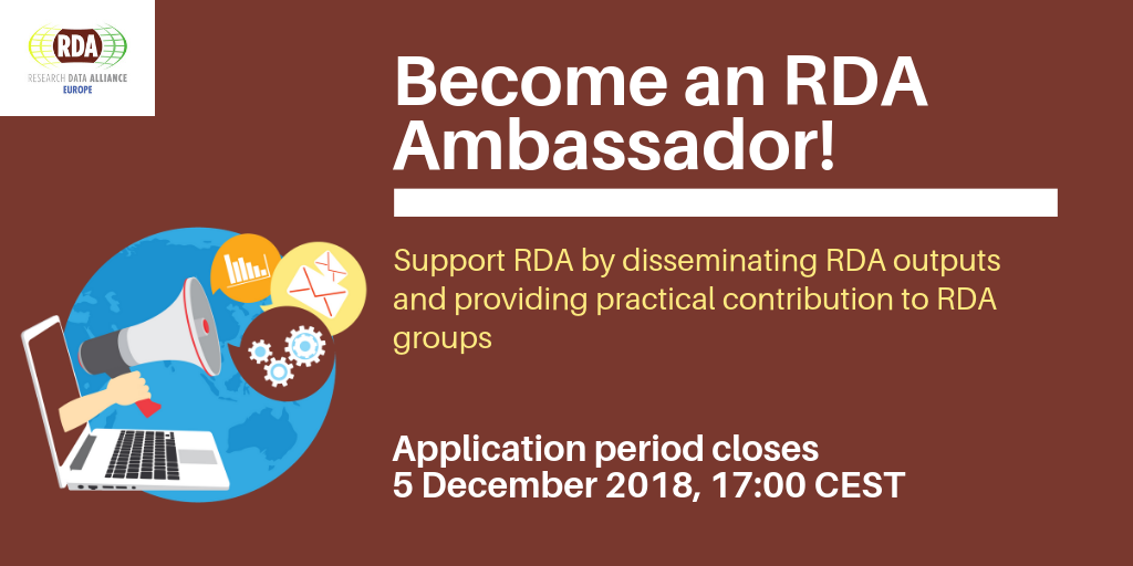 Call for RDA Europe Ambassadors now open!