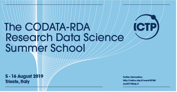 CODATA-RDA Research Data Science Summer School, 5-16 August 2019