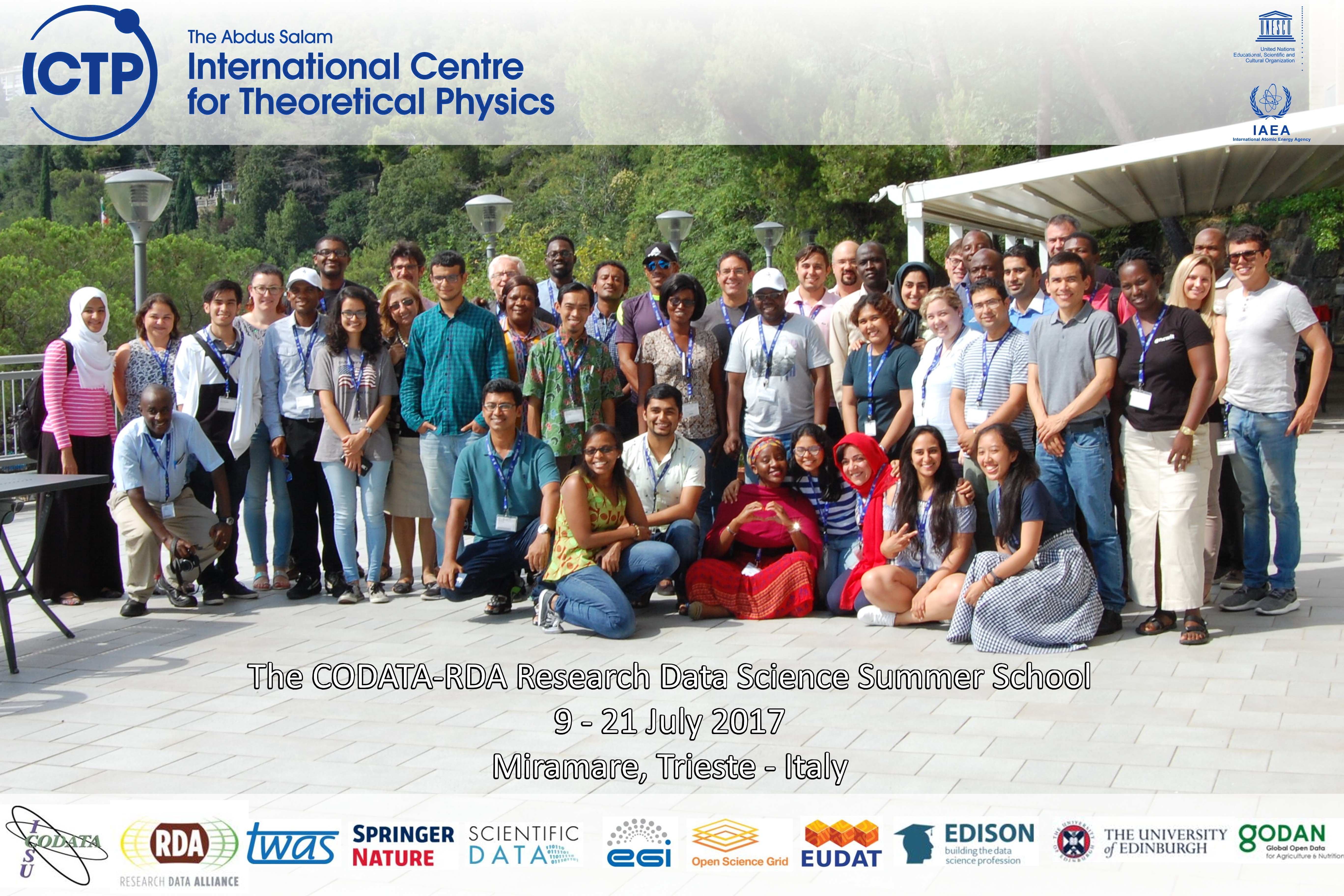 FEW DAYS TO GO: Applications Invited to Participate in the CODATA-RDA Research Data Science Summer School and Advanced Workshops, Trieste, Italy