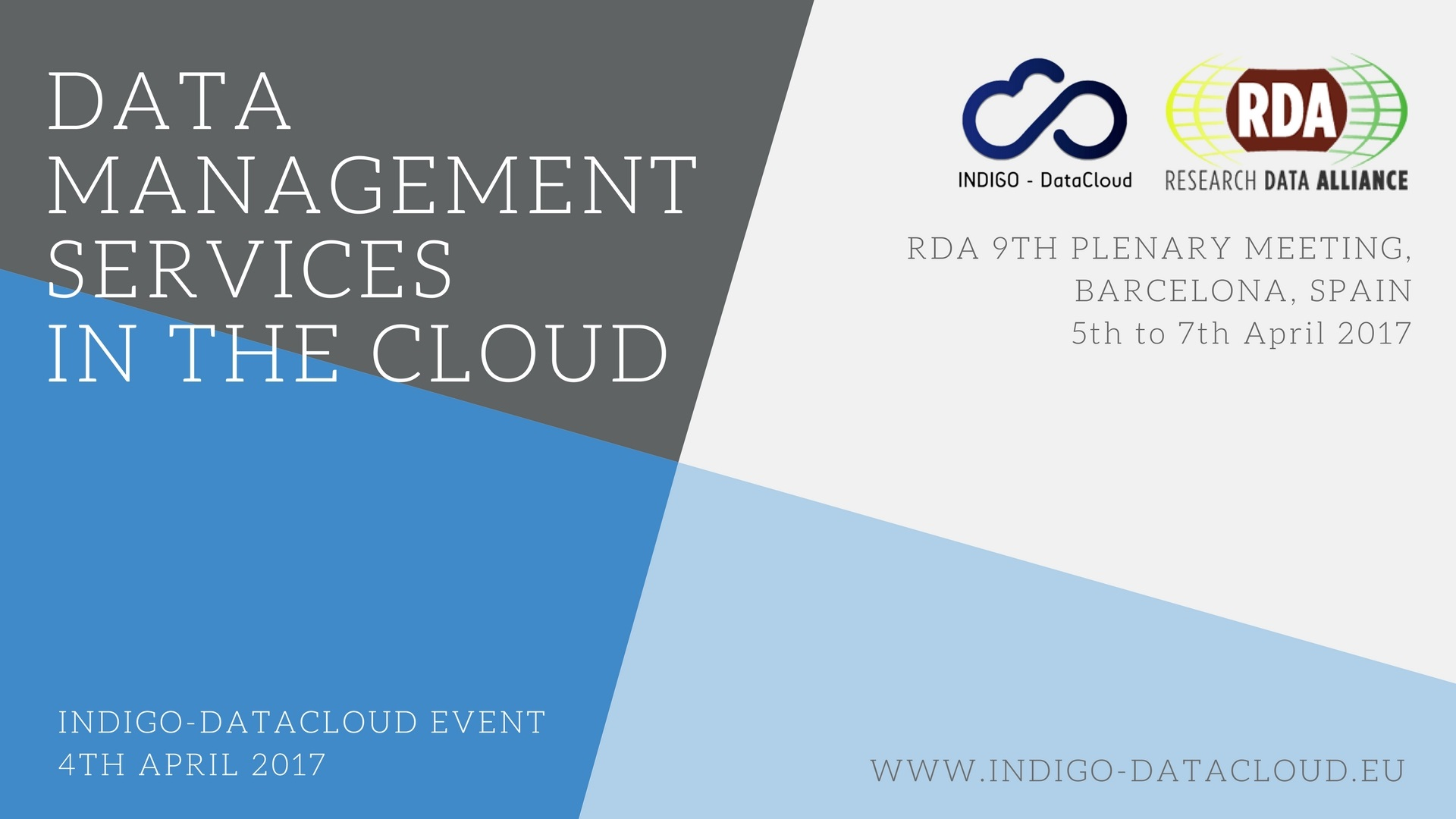 Data Management Services in the Cloud