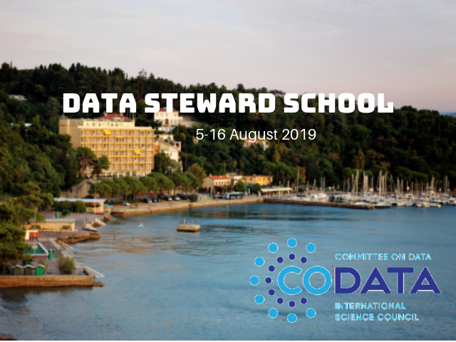 CODATA - DATA STEWARD SCHOOL in Trieste: Call for Early Career Researchers (ECR's) and Data Stewards