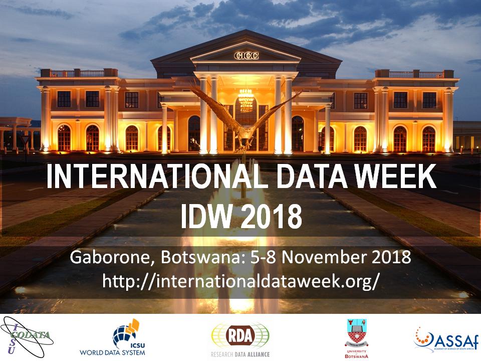 RDA's 12th Plenary Meeting - part of the International Data Week 2018, Gaborone, Botswana