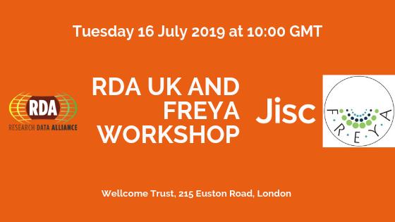 Research data alliance (RDA) UK and FREYA workshop