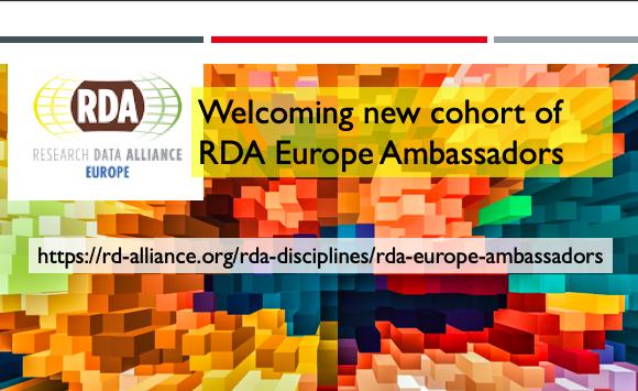 Welcoming new cohort of RDA Europe Ambassadors