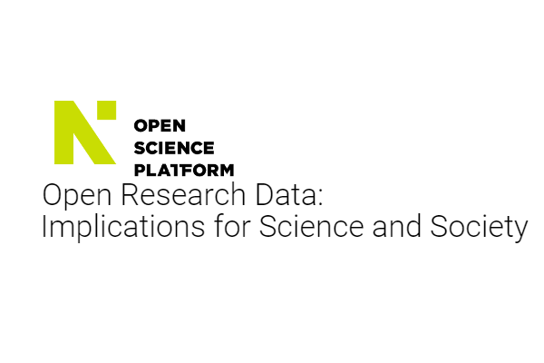 RDA Secretary General, Mark Parsons speaking at the Open Research Data: Implications for Science and Society