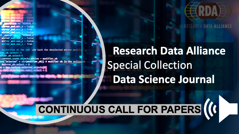 Call for Papers: Research Data Alliance Results Special Collection