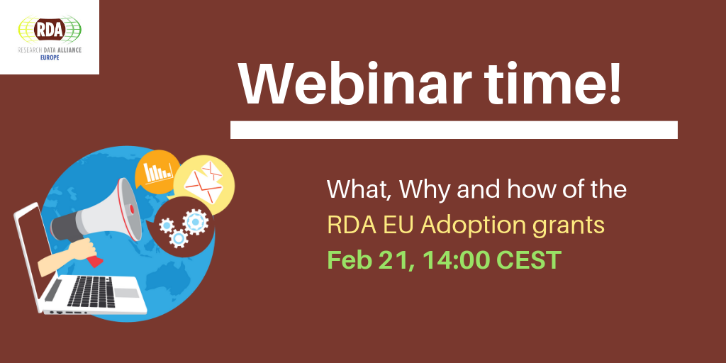 Webinar on the What, Why and how of the RDA EU Adoption grants