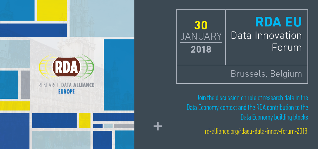 RDA EU Data Innovation Forum, 30 January 2018, Brussels, Belgium
