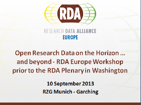 Open Research Data on the Horizon … and beyond