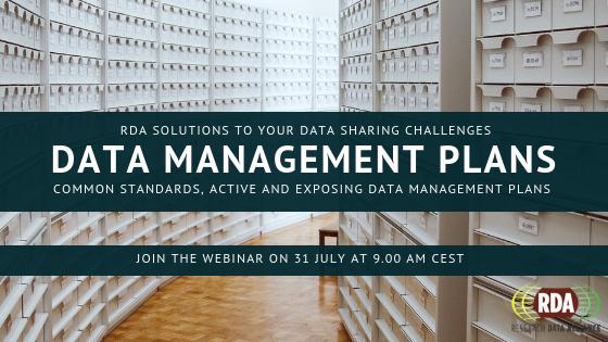 RDA Output Adoption Webinar Series:Data Management Plans
