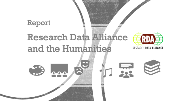 RDA and the Humanities - a report from the RDA Europe Ambassador for the Humanities