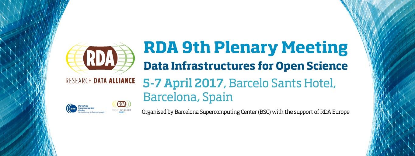 RDA Ninth Plenary Meeting, Barcelona, Spain