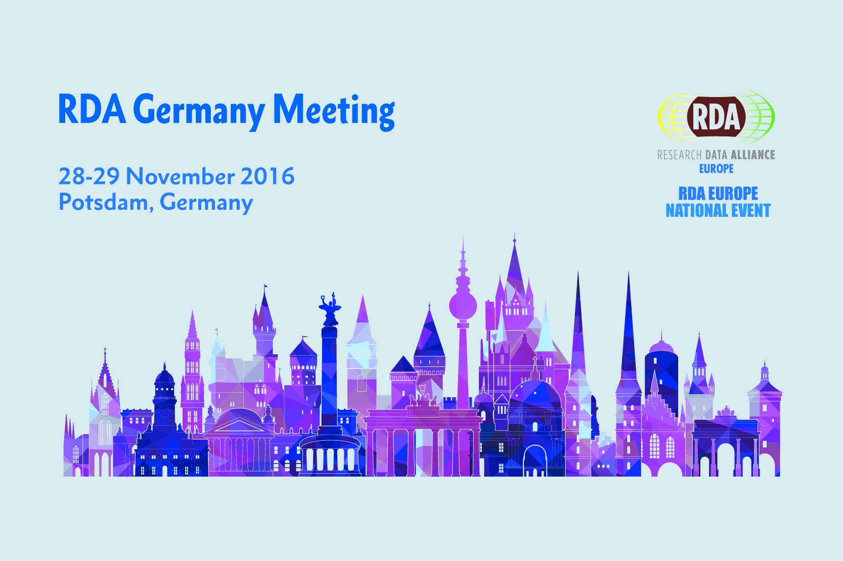 RDA Germany Meeting 2016, 28-29 November 2016, Potsdam, Germany