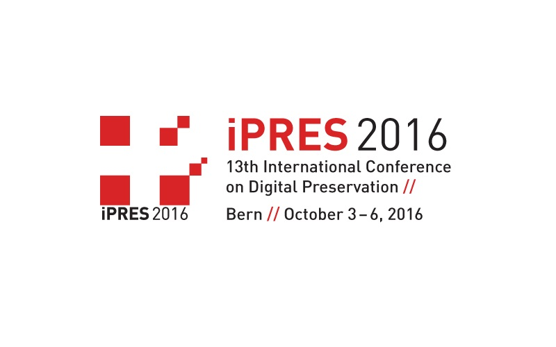 13th International Conference on Digital Preservation (iPRES), 3-6 October  2016,  Bern