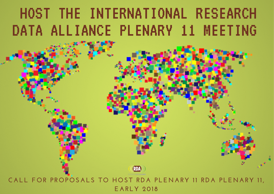 Host the international Research Data Alliance community's meeting in early 2018