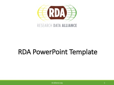 RDA Powerpoint template